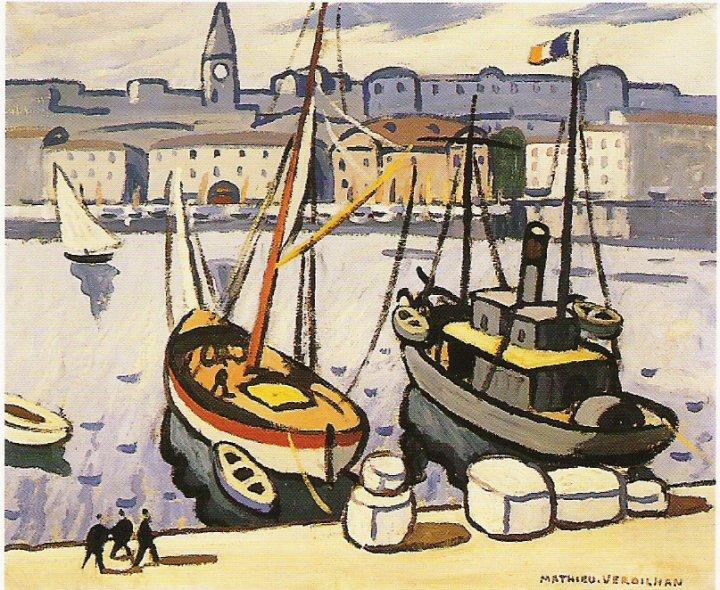 Peinture du Vieux-port 1905 verdihan