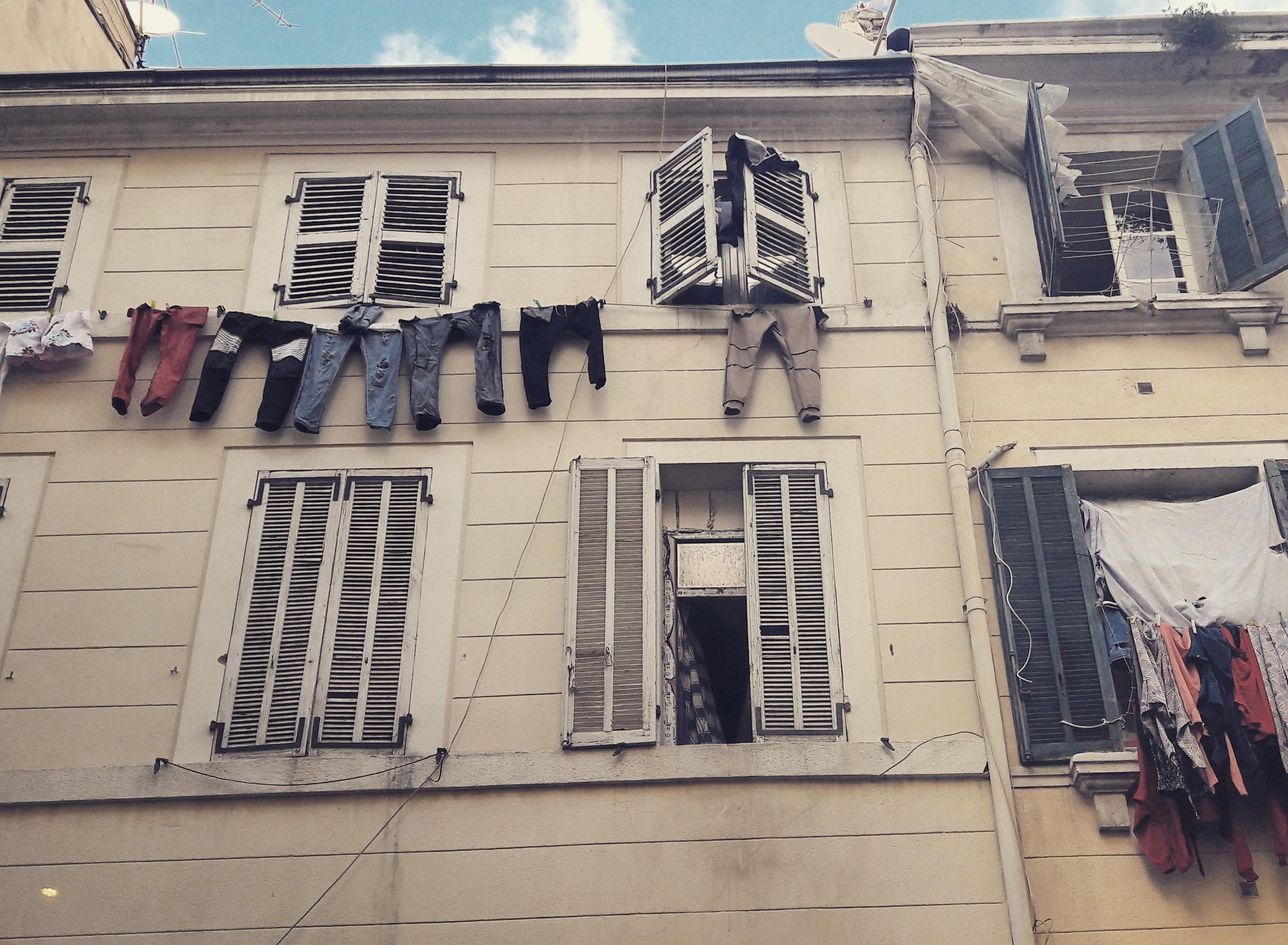 Vue des rues de Marseille