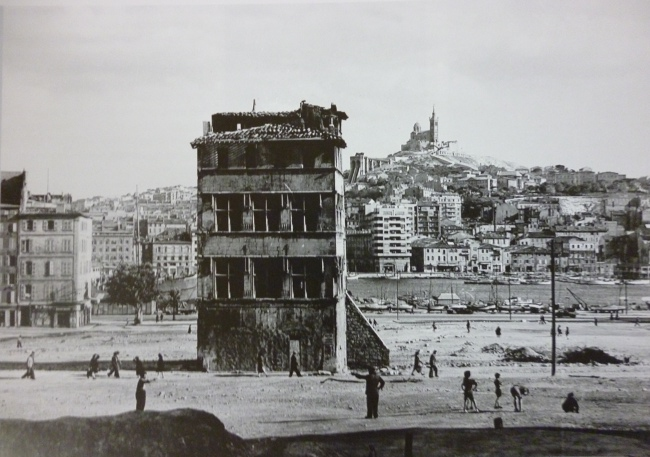 Vue de l'hôtel de Cabre en 1943